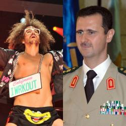 "Why do dictators have such strange pop-culture tastes? ""Apparently, the Syrian dictator is a big fan of contemporary party music. But Bashar is far from the first dictator to have a strange relationship with pop culture. From Frank Sinatra to LMFAO, TNR takes a look back at the odd cultural tastes of some of history's most ruthless rulers.""- TNR Staff, The Strange Pop-Culture Tastes of Dictators"