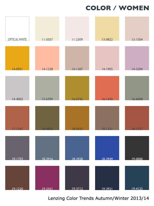 Lenzing Color Trends Autumn/Winter 2013/14...