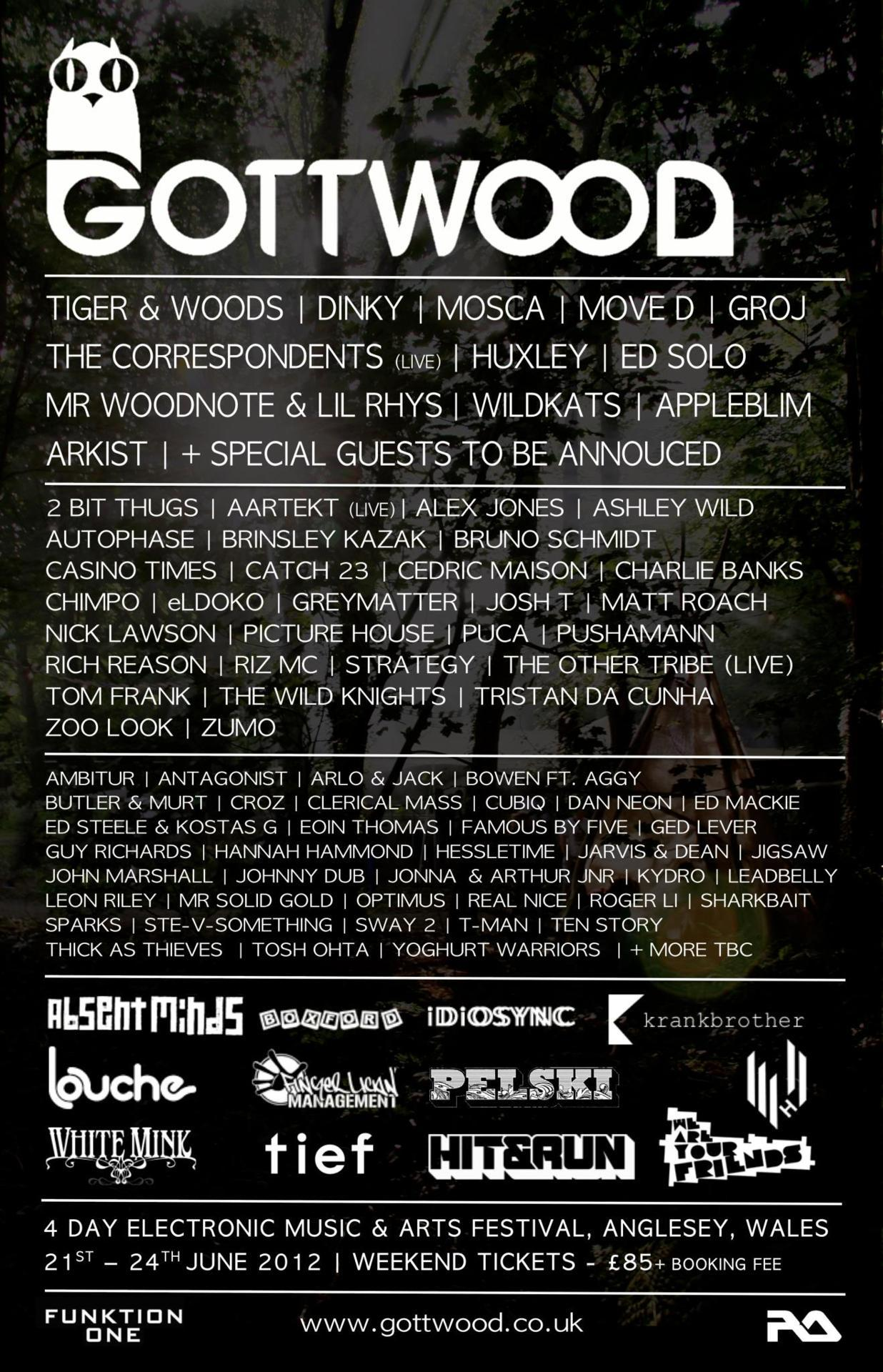 GOTTWOOD FESTIVAL! BEST FESTIVAL OF MY YEAR. Here is the line up! YEAHH MUN.