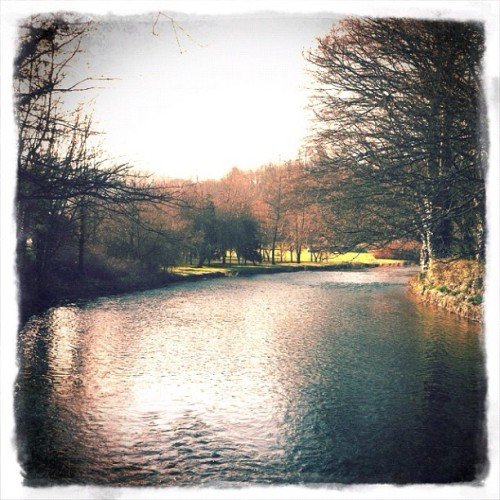 River in Ashford-On-the-Water (Taken with instagram)