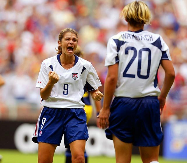 Happy birthday Mia Hamm. The soccer legend turns 40 on Saturday. (Simon Bruty/SI) GALLERY: Classic Photos of Mia Hamm