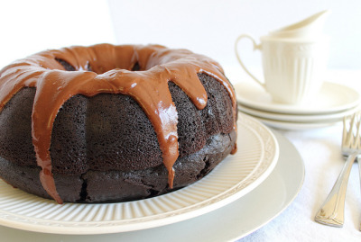 foodfuckery:  It's a Bundt! Chocolate Coffee Bundt Cake with a chocolate & coffee glaze. Moist, decadent and so, so easy. Recipe