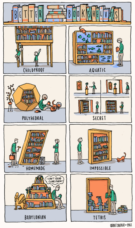 storagegeek:  INCIDENTAL COMICS: Better Bookshelves Some storage humour.