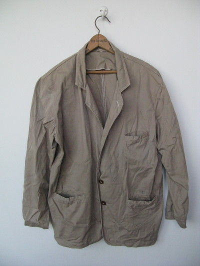 40S FRENCH WORK JACKET CHORE JACKET  pick up at: ebay