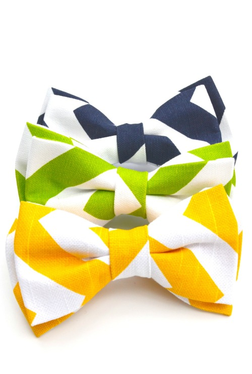 Chevron Pet Bow Ties!