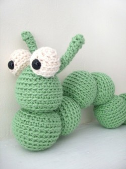 Amigurumi inchworm pattern on Etsy