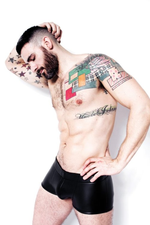 Tattooed Husband Material with a beard, John Gaita.