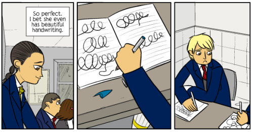 radiomaru:  From BAD MACHINERY by John Allison, March 16 2012  This might be my favorite page Allison has ever made.