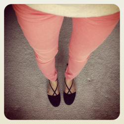 Today is a coral pink pants kind of day :).