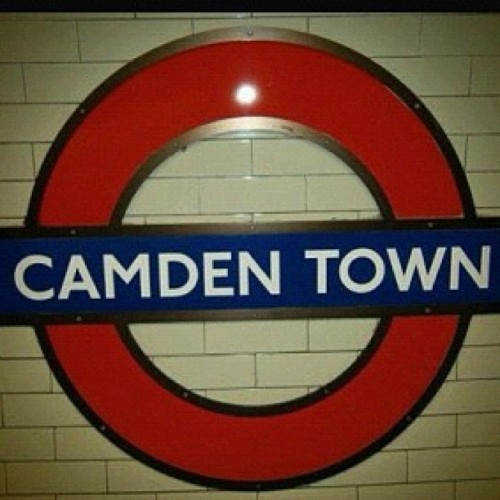 #camden #town #village #station #train #underground #places #london #vintage #uk #england #red  (Taken with instagram)