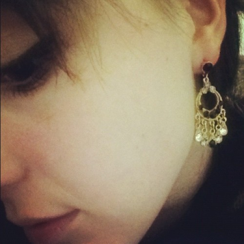 2pound vintage earrings 🌙✨🇬🇧 (Taken with instagram)