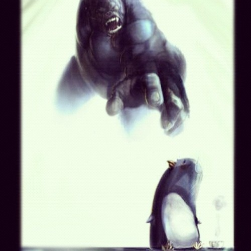 Poor lil' penguin #art #archives #random #gorilla (Taken with instagram)
