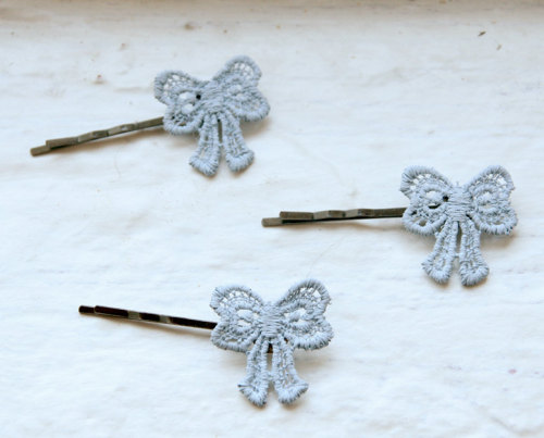 Lace Bow Bobby Pins - $19.99