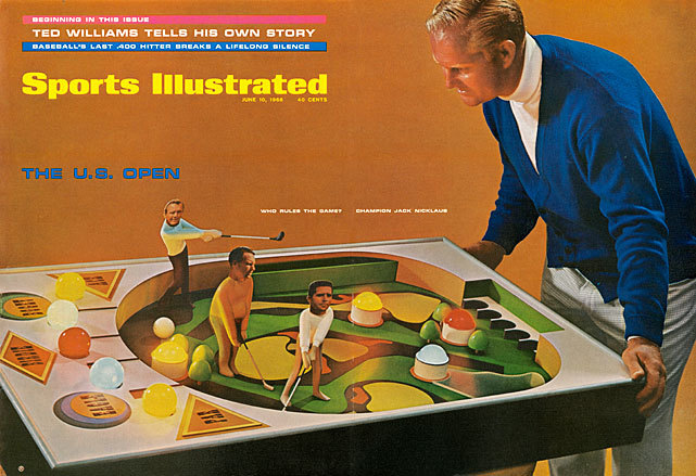 Jack Nicklaus plays pinball with the other top players on tour for this 1968 SI cover previewing the U.S. Open. Lee Trevino, in just his second year on tour, would wind up winning the tournament. Nicklaus finished in second place, four strokes behind Trevino. (James Drake/SI) SI VAULT: Trevino prevails at U.S. Open (6.24.68)