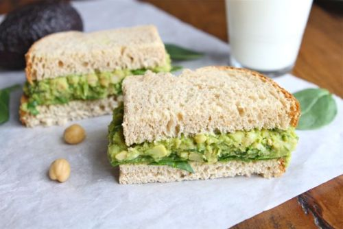 dietkiller:  Smashed Chickpea and Avocado Salad Sandwich