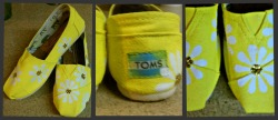 Yellowdaisy print-toms shoes