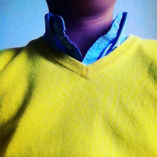 Being the sunshine in this cloudy day mwhaha 😁☀☁ #jcrew (Taken with instagram)