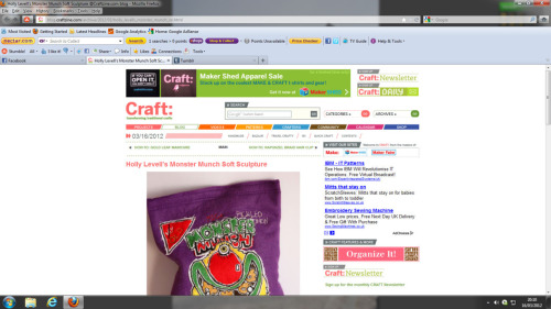 I was happily scrolling through the CraftZine: website and look what pops up :D look closer here