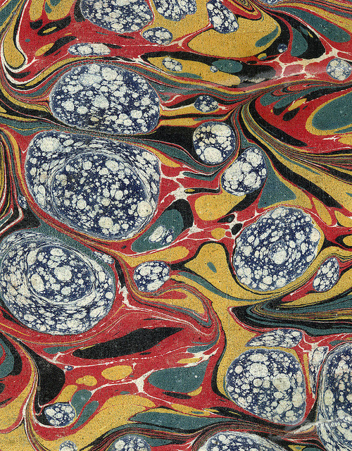 goodnumberone:  Vintage 19th c. marbled paper, Gloster pattern (24) by peacay on Flickr.
