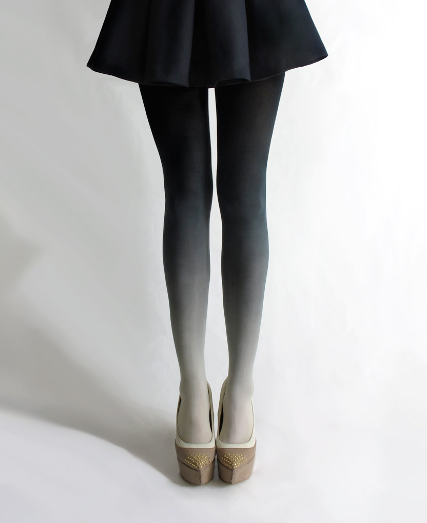 what-do-i-wear:  Ombré tights in Coal by Tiffany Ju