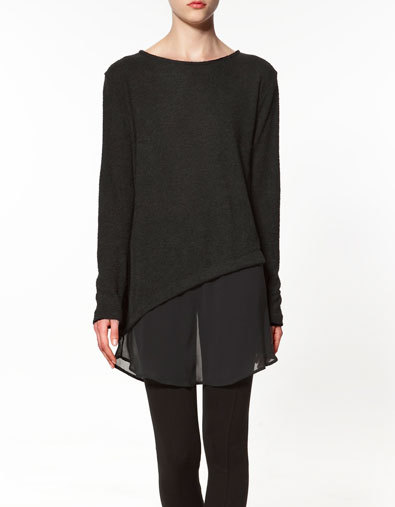 this why zara international > zara usa isn't this combined sweater just perfect? (via)