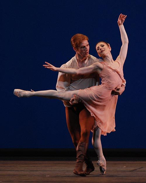 "Alina Cojocaru and Johan Kobborg in Jerome Robbins' ""Dances at a Gathering"" - The Royal Ballet"