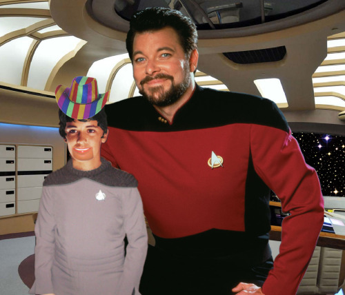 "Little-known fact: Gene Roddenberry was a big fan of Soap, and Sparks McGee was originally conceived as a ""Chuck and Bob""-style ventriloquist act for Riker."