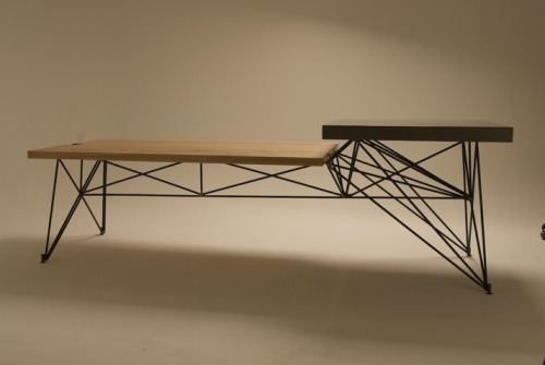 remash:  hg concrete + wood + steel table ~ goredesignco