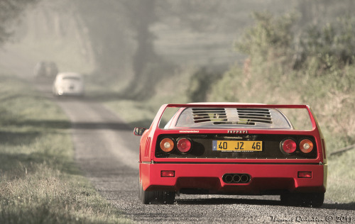 Chasing dreams. Ferrari F40. Photo by Thomas Quintin.