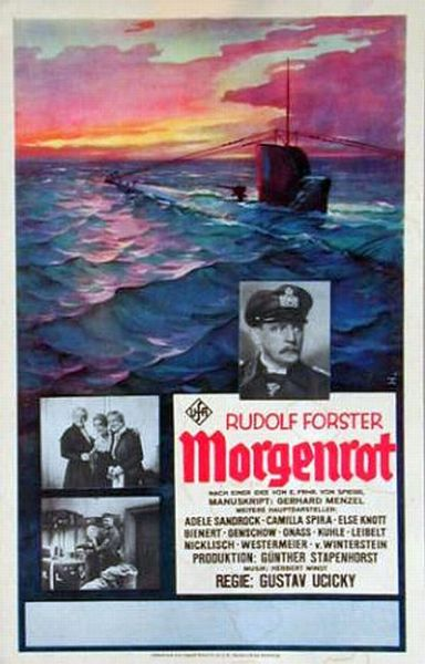 Morgenrot (Dawn) is a 1933 German submarine film set during World War I. Released three days after Adolf Hitler became Reichskanzler, it was the first film to have its screening in Nazi Germany. It became a symbol of the new times touted by the Nazi regime. The title is the German term for the reddish coloring of the east sky about a half hour before the sunrise. Directed by Gustav Ucicky.