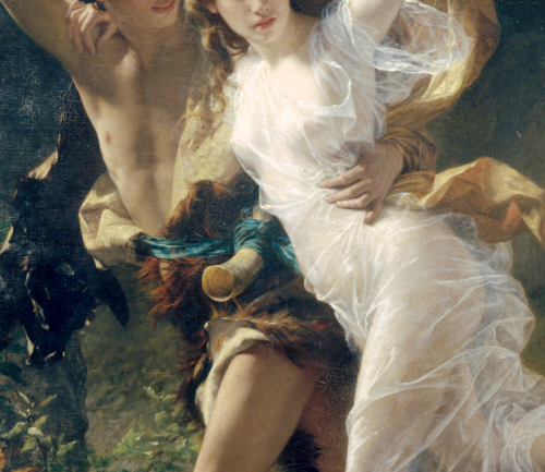 Pierre Auguste Cot The Storm (detail)