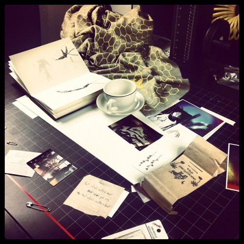 peek into the world of a creative…the world of Waris Ahluwalia for a CFDA project.. source: girlmeetcity