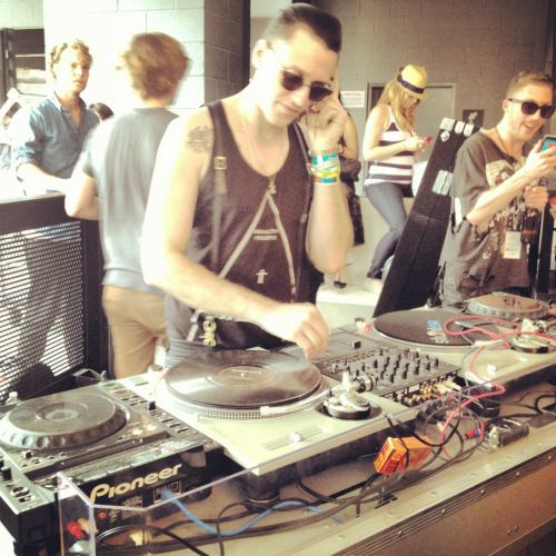 On the decks at the Nylon Mag event at W Austin