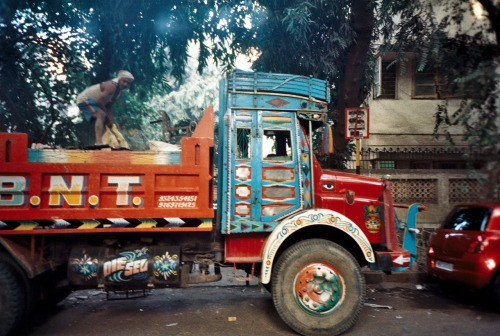 Truck Mumbai, Maharashtra, India 2/1/12-5/1/12 From my Lomo Copyright John Webley