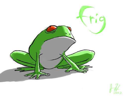 Daily Doodle 03 : FRIGI MISSED YESTERDAY AND ALSO I SUCK.So, I'll be doing one more doodle before I head to bed tonight to make up for it. :D