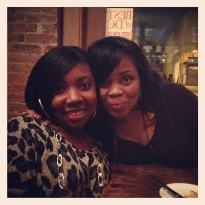 My cousins Michelle and Semetria  (Taken with Instagram at Smith Commons DC)