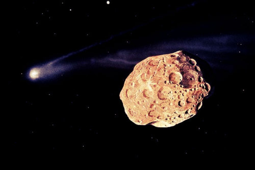 """2012 DA14""  a near earth asteroid with an estimated diameter of about 44 meters. Discovered on February 23, 2012, by the OAM Observatory, ""La Sagra"" in Spain. Calculations show that on February 15, 2013, the distance between the asteroid and the Earth will be 0.07 LD (27,000 km)."