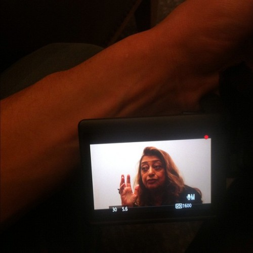 Entrevista a Zaha Hadid. (Taken with instagram)