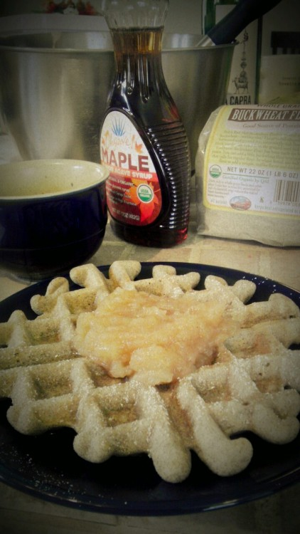 GF/DF Waffles with Applesauce <3