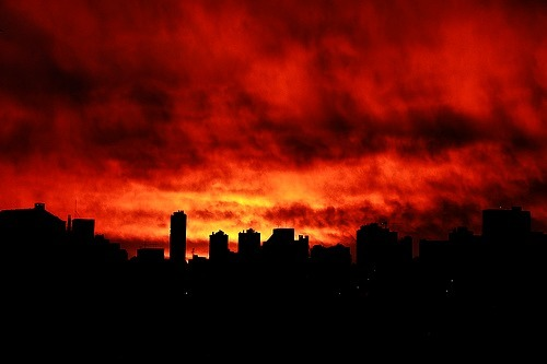 Fire in the sky by ca_heckler (on Flickr)