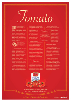 Mutti tomatoes (an Italian company) wanted to communicate their obsession for tomatoes through a print campaign. We came up with the line 'Tomato Infatuato' with the thought 'if you only focus on one thing, you know it's going to be great.' Client: Mutti tinned tomatoes Media: Print Agency: McCann Writer: Jessie jordan Art Director: Damian Sloane