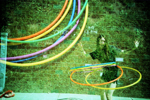 LC-A+, kodak ektachrome 100. Hula-hooping!