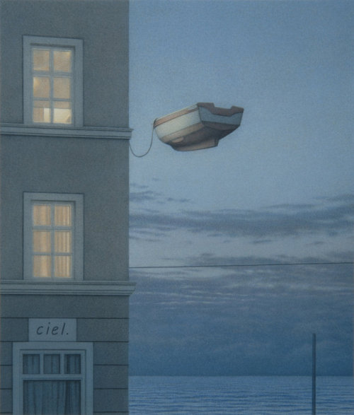 amnesia-machine:  Fenster bei Nacht (Window at Night) | Quint Buchholz, 2009