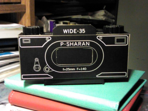 Here's your answer… a pinhole camera. A P–Sharan Wide 35 pinhole camera, to be exact. No batteries. No auto–focus. No need for either. While I wanted to update things two hours ago, I have to say that once I put the take–up spool together, I found that I couldn't stop. And, as a result of deciding not to give up, I was able to finish building the camera in just under two hours. I will test the camera some time next week or next month, once it's cherry blossom season in New York. If making this camera was fun, imagine what the actual picture taking will be like. I can't wait.