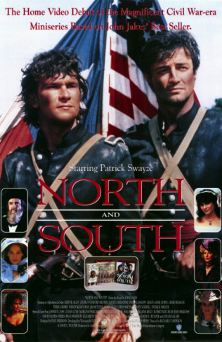 30 Day TV Challenge Day 17: Favorite mini-series.  North and South. Because it's Patrick Swayze. IN THE CIVIL WAR.