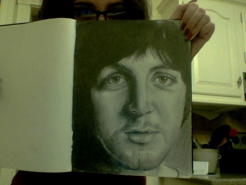 Finished Macca drawing. Really bad quality because this was taken with webcam.