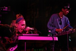 Kristen Winter for MTV Hive Grimes performs at Pitchfork's showcase at Central Presbyterian Church during SXSW 2012.