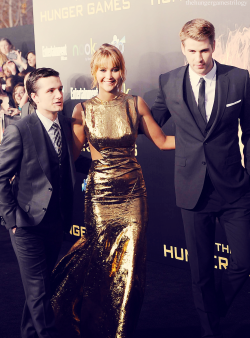 thehungergamestriology:  The Golden Three  #hungergames