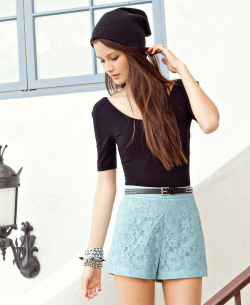 High Rise Lace Shorts - $19.80