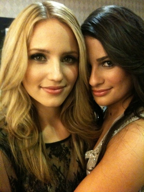 thehotpeople:  Dianna Agron and Lea Michele